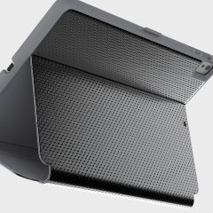 Provide luxurious protection for your iPad Pro 9.7 inch with the StyleFolio case in gunmetal grey from Speck. Complete with an attractive perforated leather-style casing, multi-angle viewing stand and secure closure system.