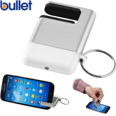 Bullet Phone Stand and Microfibre Cleaner Key Ring