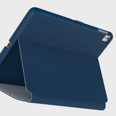 "Provide sophisticated and elegant protection for your iPad Pro 9.7 inch with the StyleFolio case in a stylish ""Deep Sea Blue"" design from Speck. Complete with a multi-angle viewing stand and secure closure system."