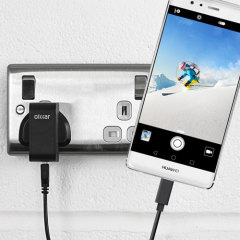 Charge your Huawei P9 Plus and any other USB device quickly and conveniently with this compatible 2.4A high power USB-C UK charging kit. Featuring a UK wall adapter and USB-C cable.