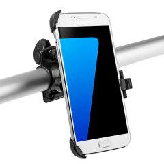 Ideal para utilizar el GPS del smartphone o escuchar música, este soporte de bici para el Samsung Galaxy S7 se instala de forma sencilla y ofrece un sistema de sujección seguro en la bici.