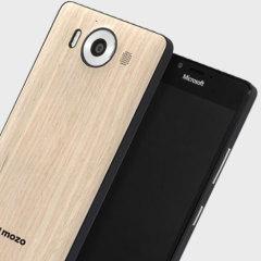 Mozo Microsoft Lumia 950 Wireless Charging Back Cover - Light Oak
