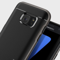 Behåll den tunna profilen av din Samsung Galaxy S7 och ge den samtidigt ett optimalt skydd med skalet Neo Hybrid Spigen i grått.