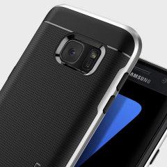 La coque Spigen Neo Hybrid est ultra légère et très protectrice. Grâce à sa technologie à coussins d'air, la coque est moins épaisse sur les bords du Samsung Galaxy S7 tout en procurant une protection optimale.