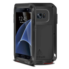 Protect your Samsung Galaxy S7 Edge with one of the toughest and most protective cases on the market, ideal for helping to prevent possible damage from water and dust - this is the black Love Mei Powerful Protective Case.