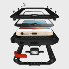Protégez votre iPhone SE avec l'une des coques les plus protectrices du marché, idéale pour lutter contre les dégâts dus à l'eau et la poussière : la Powerful de chez Love Mei.