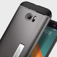 Spigen Slim Armor HTC 10 Tough Case Hülle Gunmetal Grau