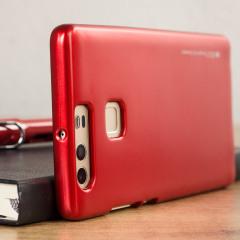 Mercury Goospery Jelly Huawei P9 Gel Case Hülle Metallic Rot