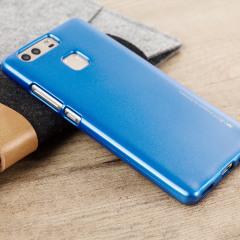 Mercury Goospery Jelly Huawei P9 Gel Case Hülle Metallic Blue