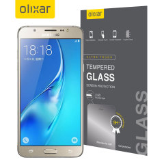 Olixar Samsung Galaxy J5 2016 Tempered Glass Skärmskydd