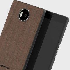 Mozo Microsoft Lumia 950 XL Batterieabdeckung Back Cover Black Walnut