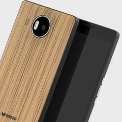 Mozo Microsoft Lumia 950 XL Batterieabdeckung Back Cover Zebra Wood