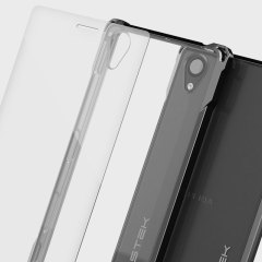 The Covert Protective bumper case in glossy black and clear from Ghostek comes complete with a tough tempered glass screen protector to provide your Sony Xperia X with fantastic all round protection, whilst highlighting its superb design.