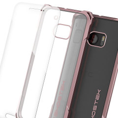 Ghostek Covert HTC 10 Bumper Case - Clear / Peach