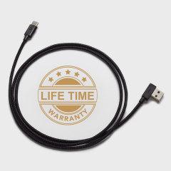Ce câble de 1.2 mètre vous permettra de connecter votre appareil USB-C à votre ordinateur afin de le charger et de le synchroniser. Etant très solide et résistant, il pourra endurer toute courbure et torsion. Optez pour un câble de qualité paré à toute éventualité !