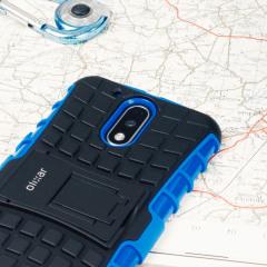Suojaa Moto G4 Plus -puhelimesi tällä ArmourDillo -suojakotelolla, joka koostuu TPU-sisäkotelosta ja iskunkestävästä ulkokuoresta.