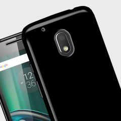 Olixar FlexiShield Moto G4 Play Gel Hülle in Solid Schwarz