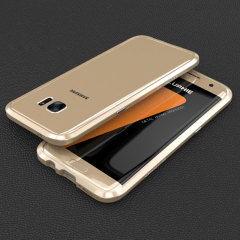 Luphie Blade Sword Samsung Galaxy S7 Aluminium Bumper in Gold