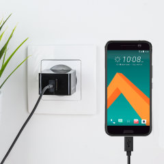 Charge your HTC 10 and any other USB device quickly and conveniently with this compatible 2.4A high power USB-C EU charging kit. Featuring an EU wall adapter and USB-C cable.