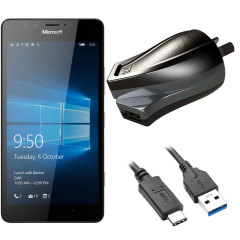 Charge your Microsoft Lumia 950 and any other USB device quickly and conveniently with this compatible 2.4A high power USB-C Australian charging kit. Featuring an AUS wall adapter and USB-C cable.
