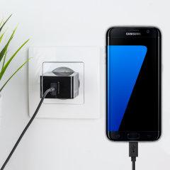 Chargez votre Samsung Galaxy S7 Edge et vos appareils USB rapidement et en toute simplicité grâce à ce chargeur secteur 2.4A haute puissance compatible Micro USB. Ce chargeur est fourni avec un câble USB vers Micro USB.