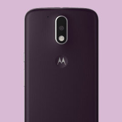 Official Moto G4 Plus Shell Replacement Back Cover - Dark Fig