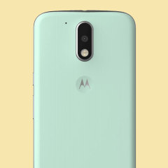 Official Moto G4 Plus Shell Replacement Back Cover - Foam Green