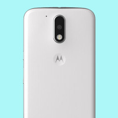Official Moto G4 Plus Shell Replacement Back Cover - Chalk White