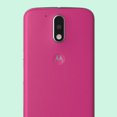 Official Moto G4 Plus Shell Replacement Back Cover - Raspberry
