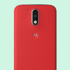 Official Moto G4 Plus Shell Replacement Back Cover - Lava Red