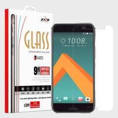 Zizo Lightning Shield HTC 10 Tempered Glas Displayschutz