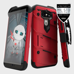 Zizo Bolt Series LG G5 Tough Case Hülle & Gürtelclip Rot