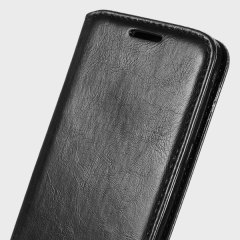 Protect your LG Stylus 2 with this durable and stylish black leather-style wallet case from Zizo. With luxurious tan lining and slots for your most important cards and documents. Leave the regular wallet at home.