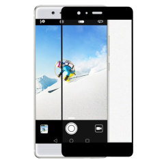Olixar Huawei P9 Full Covered Glass Screen Protector - Black