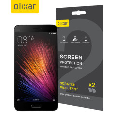 Keep your Xiaomi Mi 5 screen in pristine condition with this Olixar scratch-resistant screen protector 2-in-1 pack.