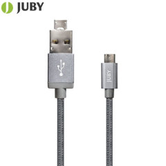 Juby AnyLink 2-in-1 Micro USB Charge & Sync Cable - Space Grey