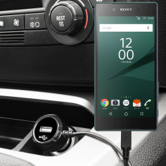 Keep your Sony Xperia Z5 fully charged on the road with this high power 2.4A Car Charger, featuring extendable spiral cord design. As an added bonus, you can charge an additional USB device from the built-in USB port!