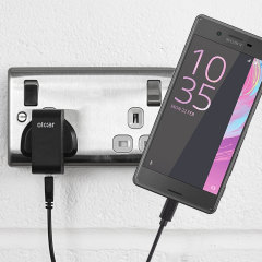 Charge your Sony Xperia X quickly and conveniently with this 2.4A high power charging kit. Featuring mains adapter and USB cable.
