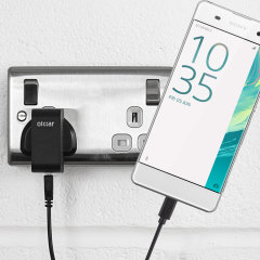 Charge your Sony Xperia XA quickly and conveniently with this 2.4A high power charging kit. Featuring mains adapter and USB cable.