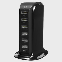 6-Port USB Tower Charging Station - Australian Mains