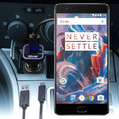 Håll din OnePlus 3T / 3 fullt laddad på vägen med den 3.1 A billaddaren. Som en extra bouns kan du ladda en extra USB-enhet från den inbyggda USB-porten.