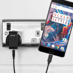 Charge your OnePlus 3T / 3 and any other USB device quickly and conveniently with this compatible 2.4A high power USB-C UK charging kit. Featuring a UK wall adapter and USB-C cable.