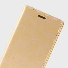 Mercury Samsung S6 Flip Wallet Gold