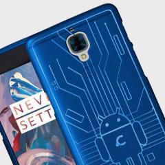Cruzerlite Bugdroid Circuit OnePlus 3T / 3 Suojakotelo – Sininen