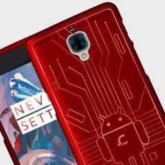 Cruzerlite Bugdroid Circuit OnePlus 3T / 3 Suojakotelo – Punainen