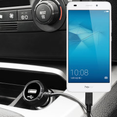Keep your Huawei Honor 5C fully charged on the road with this high power 2.4A Car Charger, featuring extendable spiral cord design. As an added bonus, you can charge an additional USB device from the built-in USB port!
