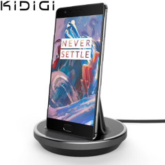 Synkronisera och ladda din OnePlus 3T / 3 med denna stilfulla stationär docken som är även skal kompatibel och fungerar som utmärkt bordsställ.
