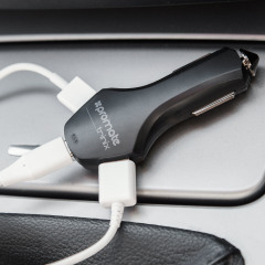 "Take mobile charging to a whole new level with the heavy duty Promate 8.4A ""world's fastest car charger"" Qualcomm Quick Charge 3.0 compatible Dual USB and single USB-C car charger. Made from high quality materials while providing extreme charging speeds."