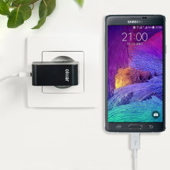 Charge your Samsung Galaxy Note 4 and any other USB device quickly and conveniently with this compatible 2.4A high power micro USB EU charging kit. Featuring an EU wall adapter and micro USB cable.