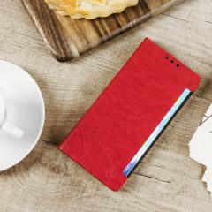 Olixar Samsung Galaxy Note 7 Wallet Case Kunstleder Tasche in Rot